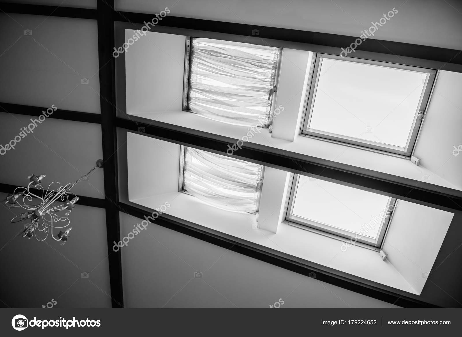 skylights in the roof of the house — Stock Photo © Andreua #179224652