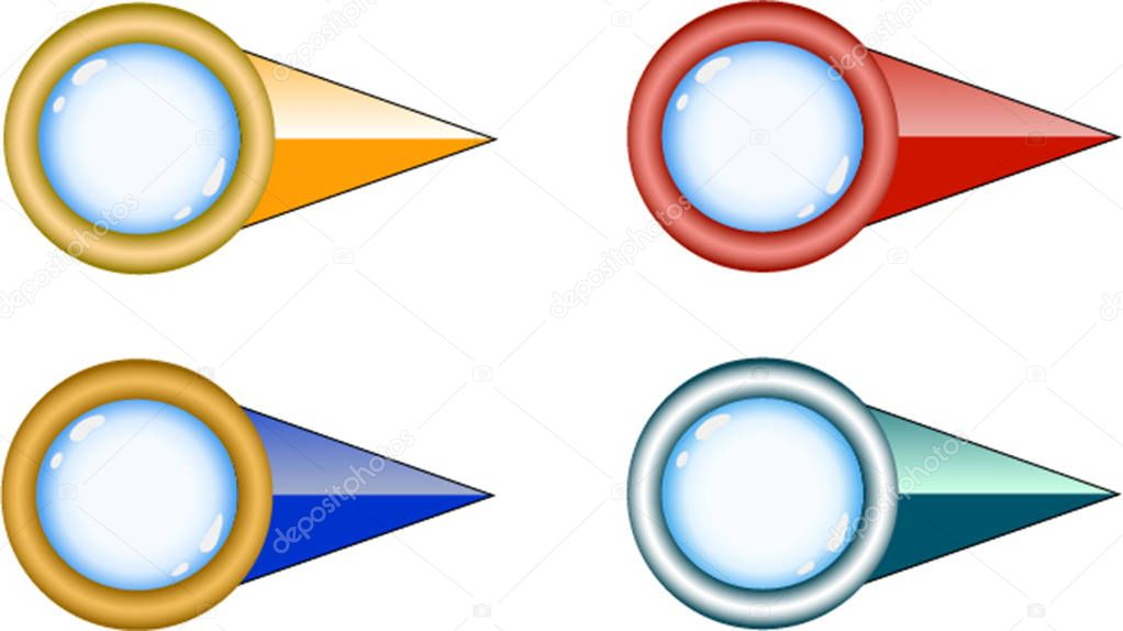 A set of colorful cartoon arrows mouse pointer vector