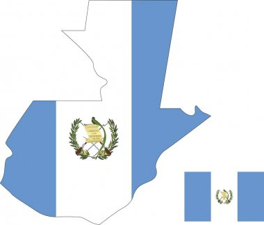 Guatemala vector map with flag. Isolated, white background icon
