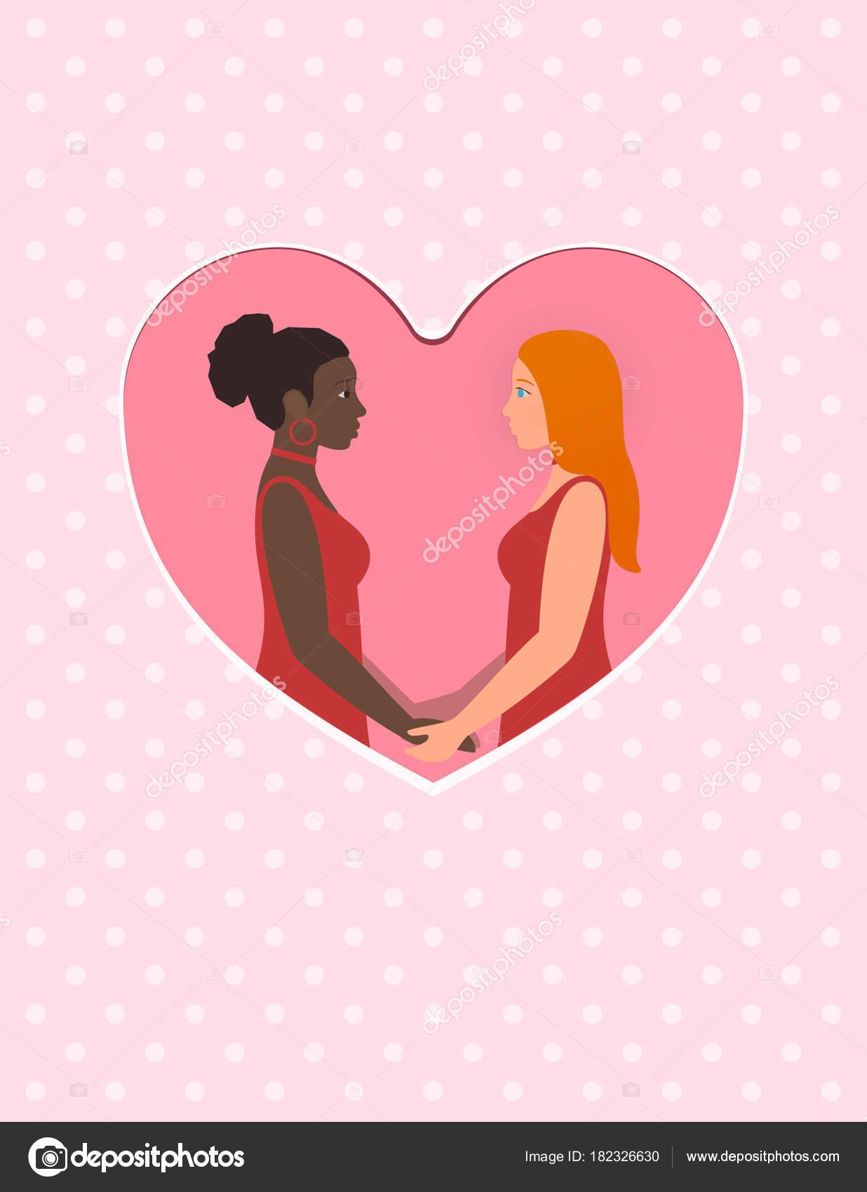 Noir fille blanc fille lesbienne