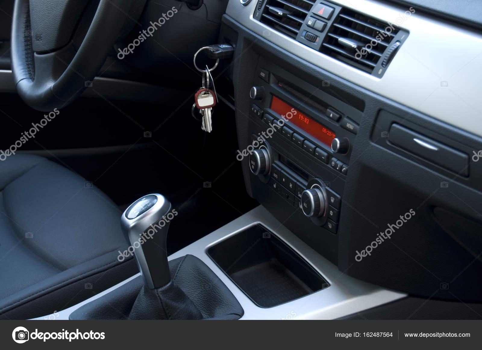 Modern Automobile Black Interior — Stock Photo © RSTPIERR #162487564