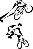 Bmx cyclist illustration