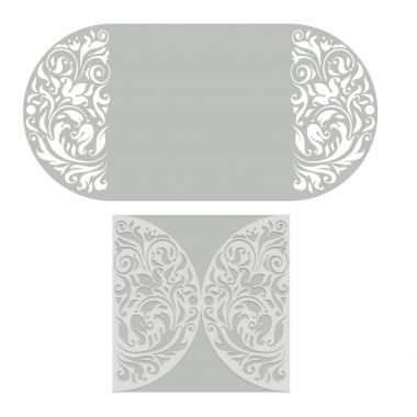 Ornate vector round pattern for cutting or lazer-cut
