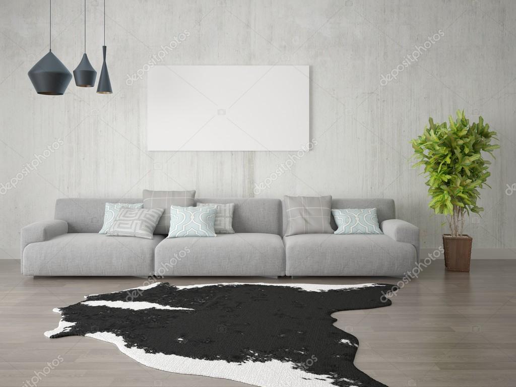 Large bright living room. — Stock Photo © wodoplyasov #126758982