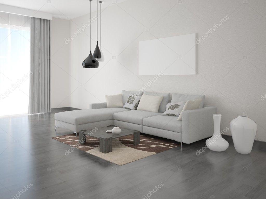 Bright comfortable living room. — Stock Photo © wodoplyasov #127752530