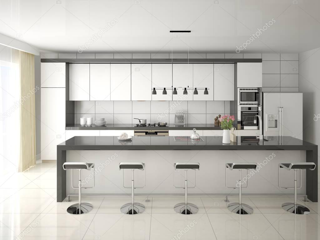 Keuken achterwand wit in moderne witte keuken keukenglas