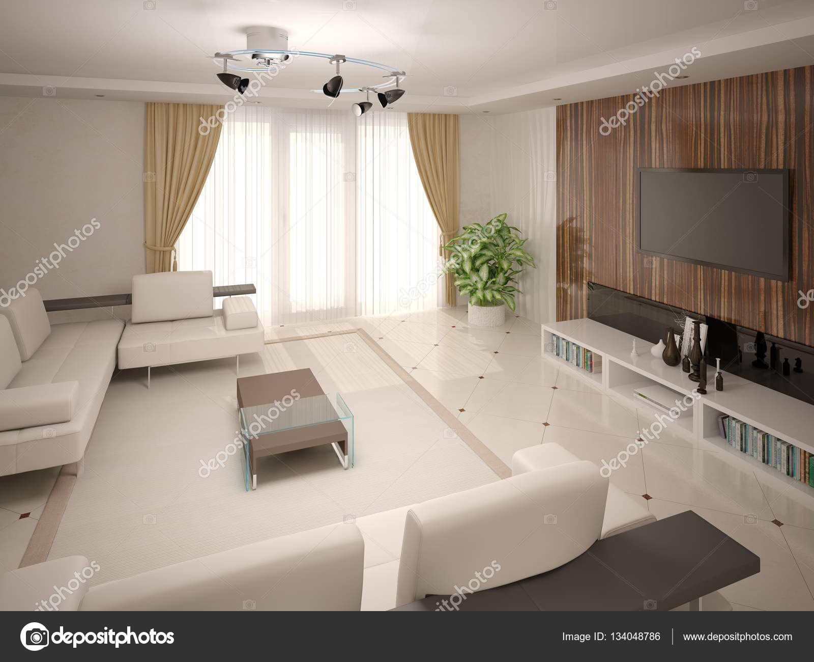Con Sala De Estar Moderna Cl Sica Con Muebles Funcionales Foto  # Muebles Funcionales