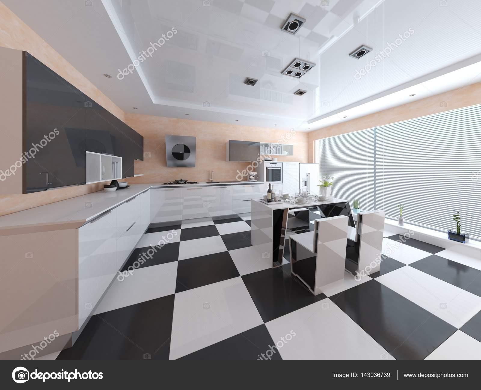 Cucina alla moda in stile hi-tech — Foto Stock © wodoplyasov #143036739