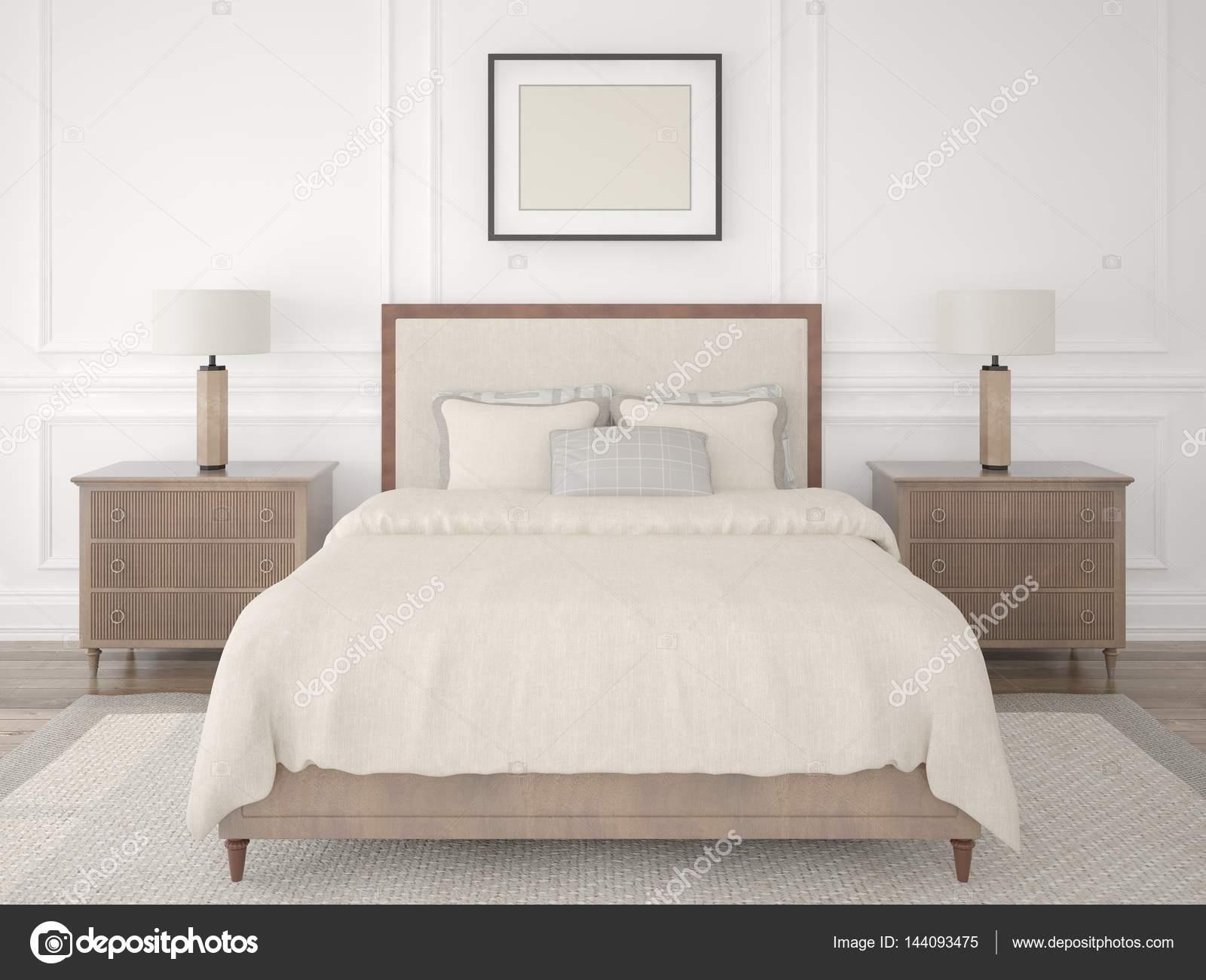 Camera da letto alla moda in stile classico — Foto Stock ...