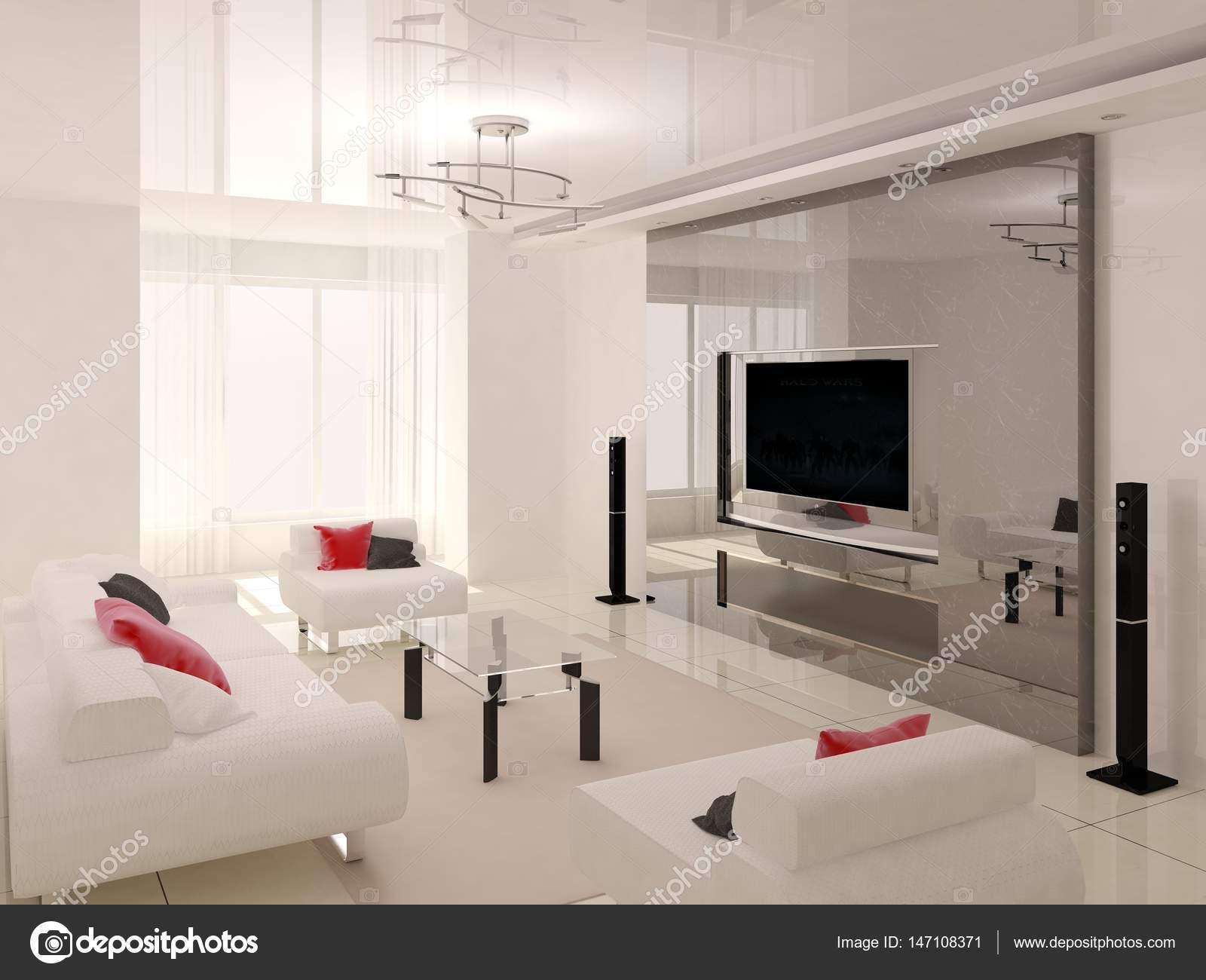 Moderne lichte woonkamer — Stockfoto © wodoplyasov #147108371