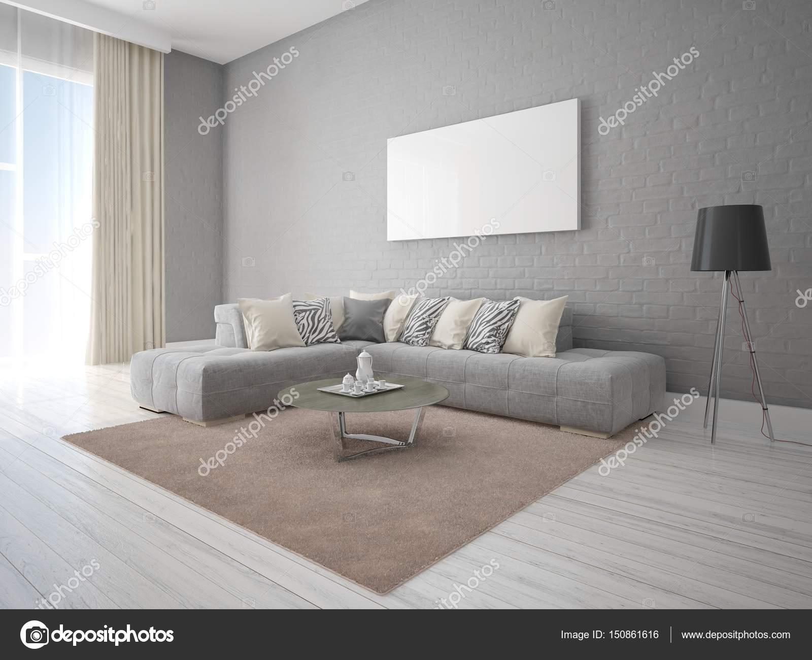 Exklusiv Sofa mock up in einem stilvollen wohnzimmer mit eine exklusive sofa