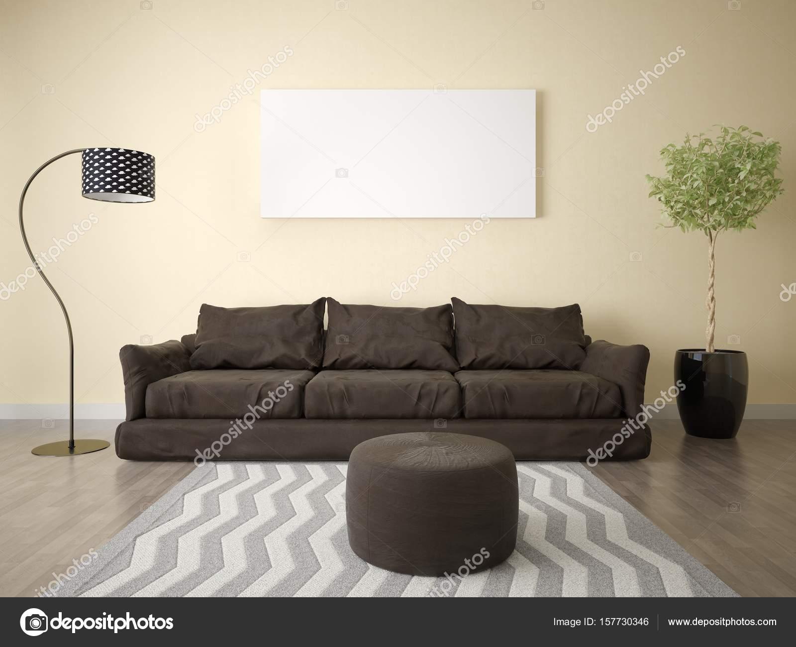 salon avec canap marron fabulous large size of pas cl vieilli convertible imitation salon. Black Bedroom Furniture Sets. Home Design Ideas