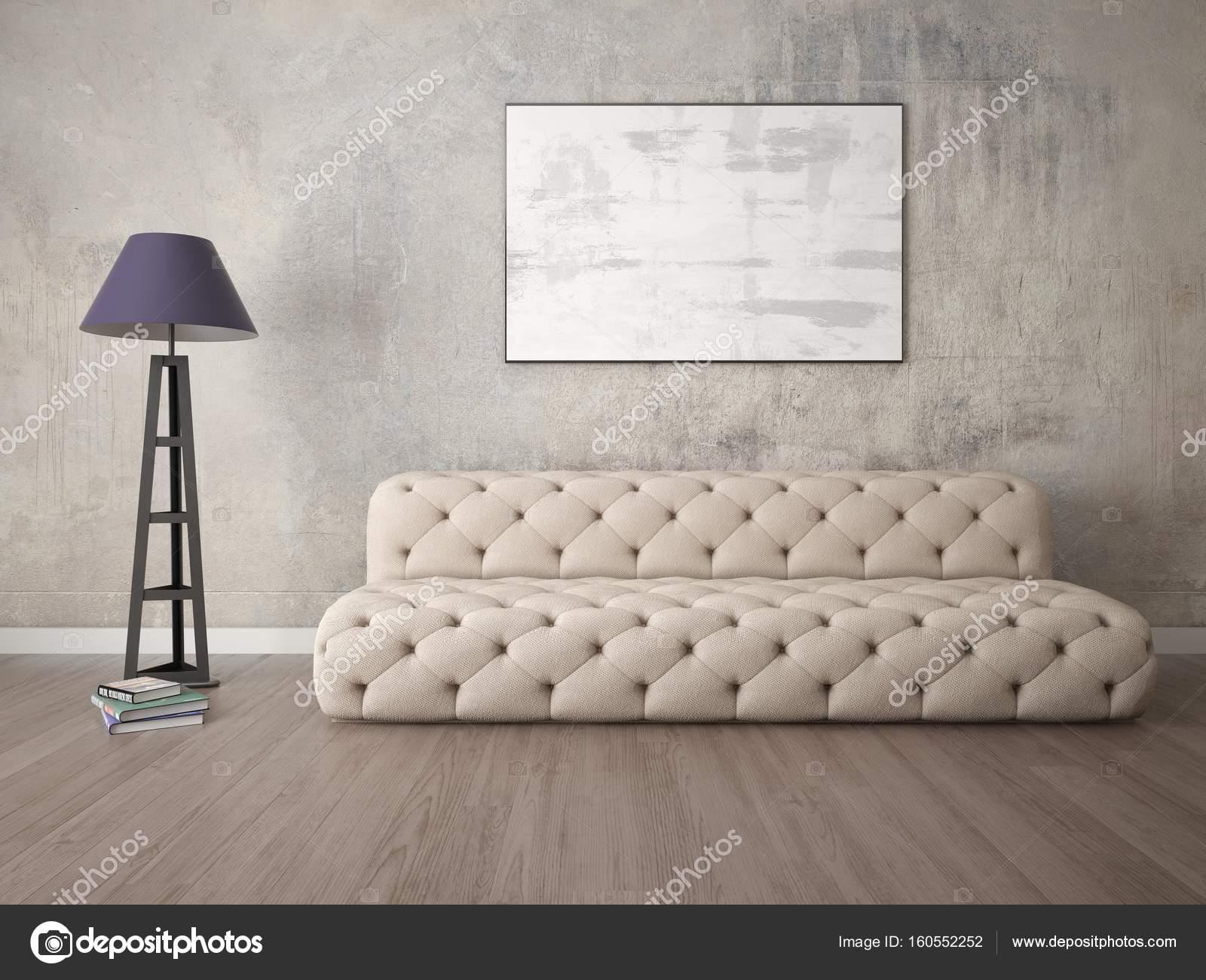 Mock Up Eine Exklusive Wohnzimmer Mit Einem Modischen Sofa