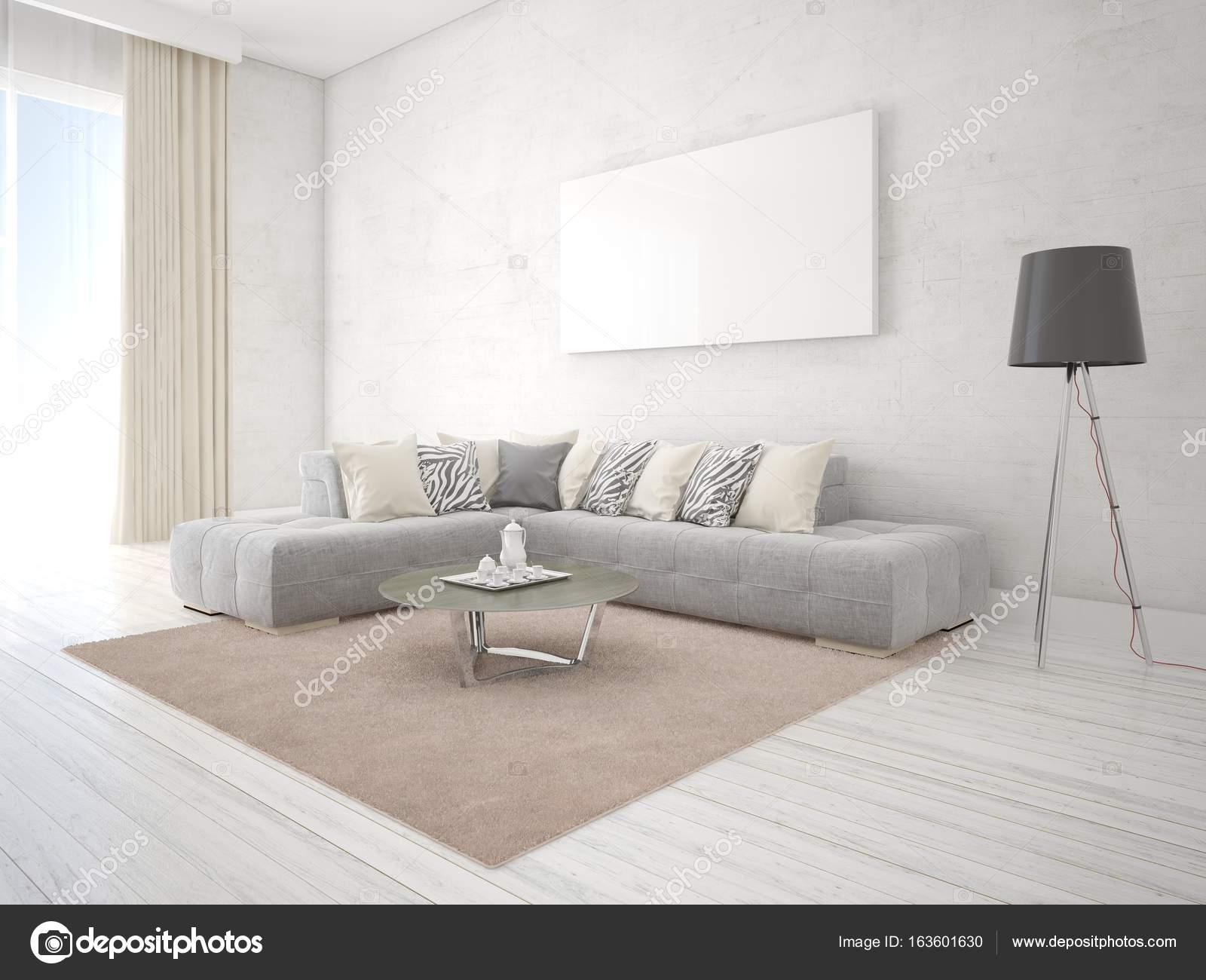 maquette du salon avec un canap dangle exclusif et le fond la mode image de wodoplyasov