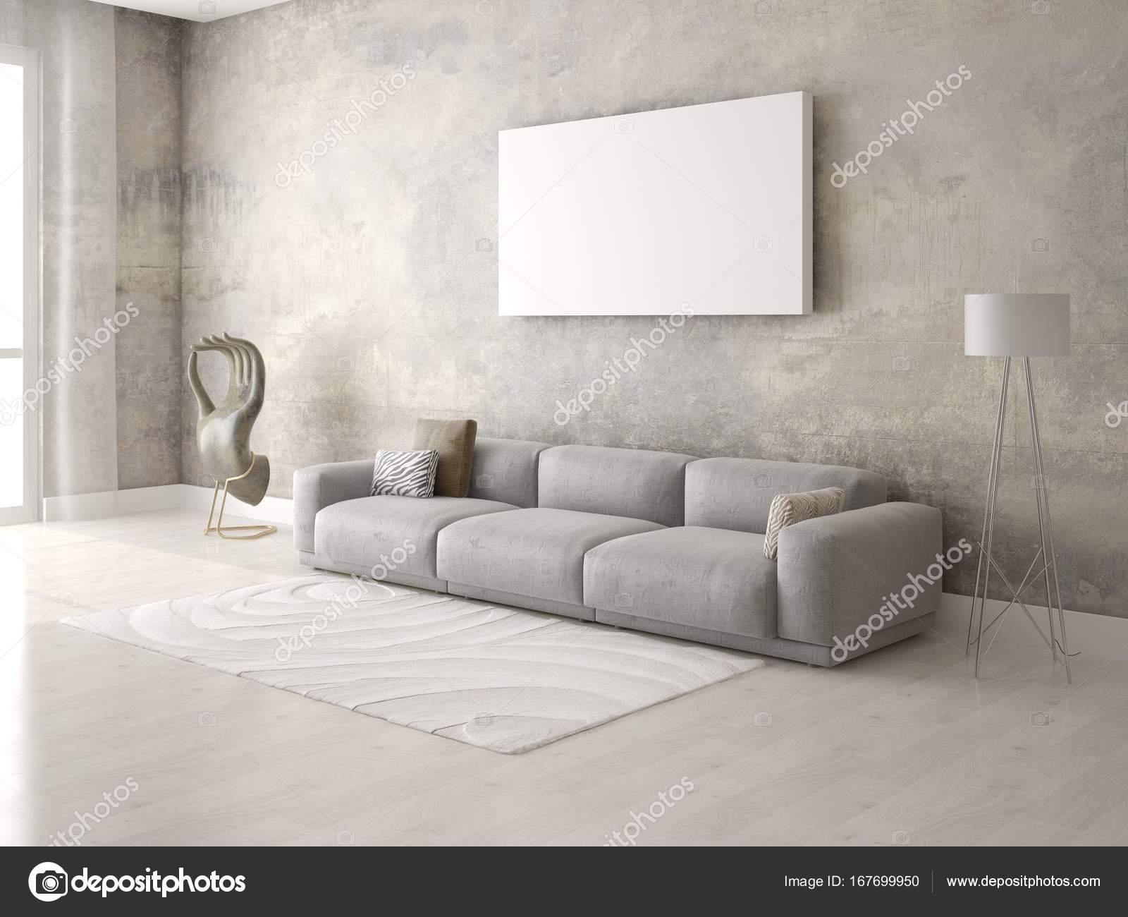 Mock Up Ein Stilvolles Wohnzimmer Mit Eine Exklusive Sofa