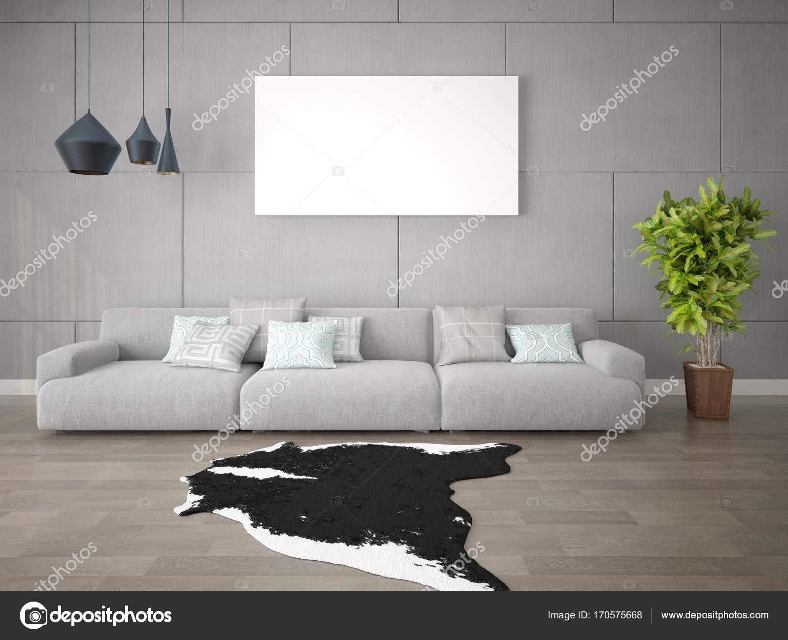 Mock-up ein modernes Wohnzimmer mit eine große vase. — Stockfoto ...