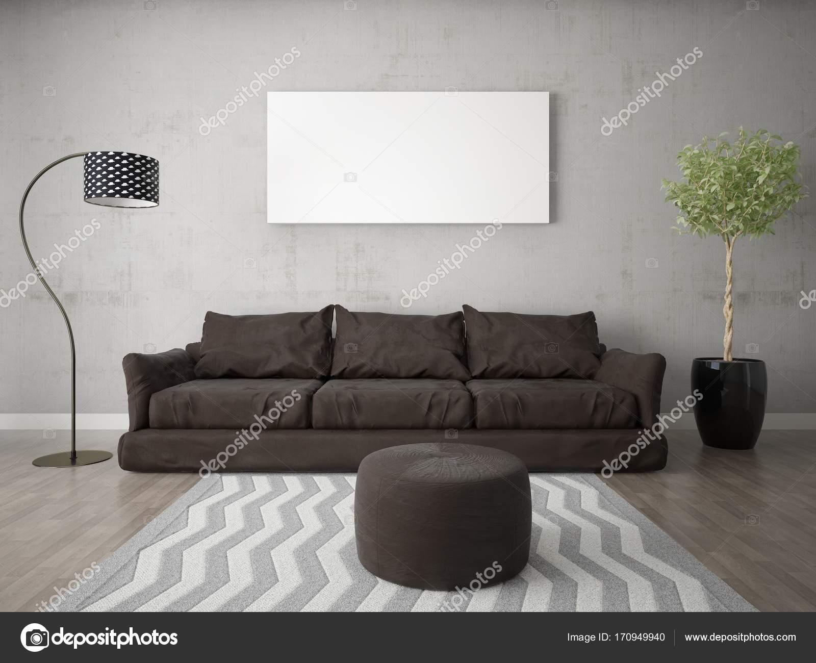 Exklusiv Sofa mock up ein stilvolles wohnzimmer mit eine exklusive sofa