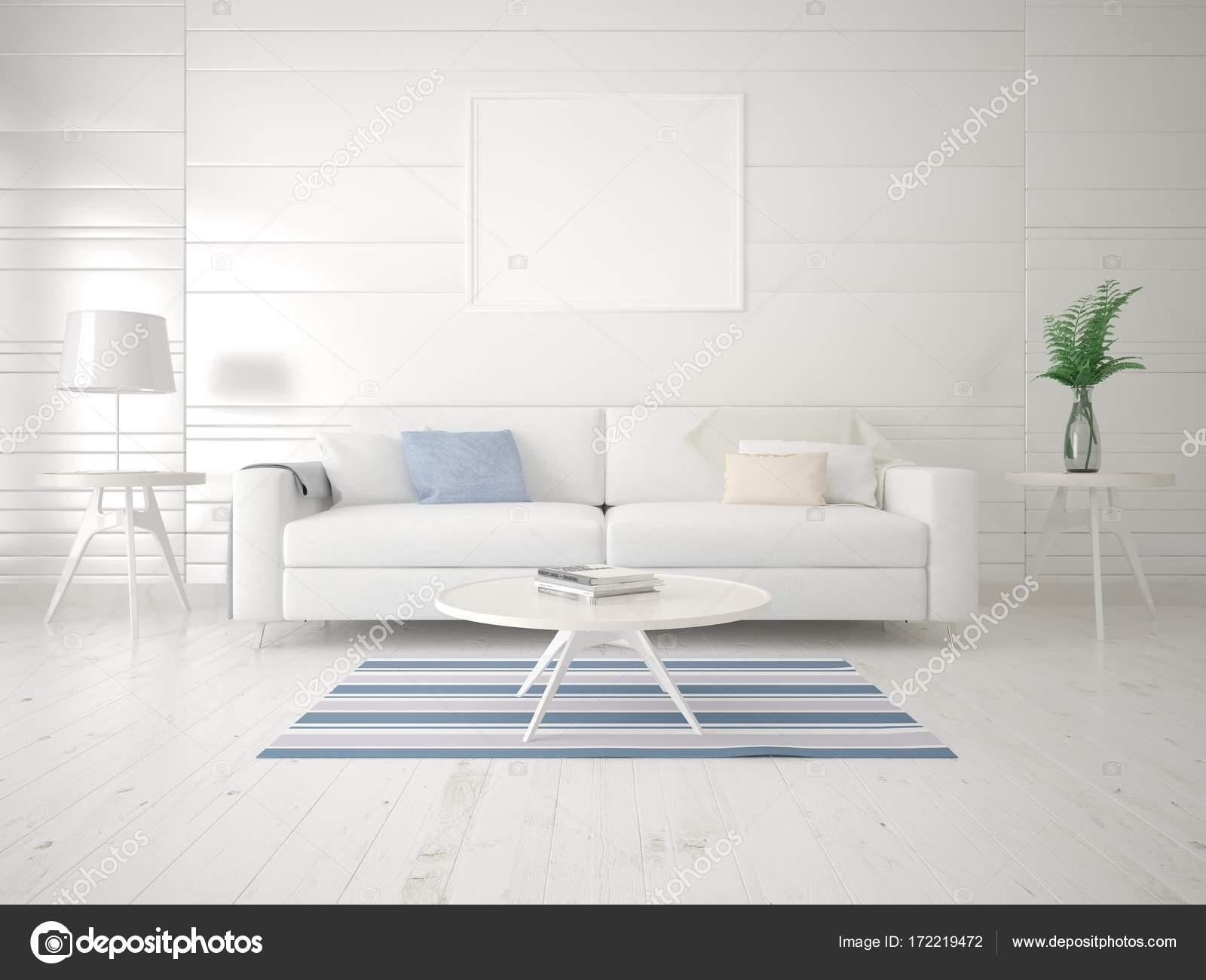 Exklusive Bilder Wohnzimmer ~ Mock up eine exklusive wohnzimmer mit hellen sofa u stockfoto