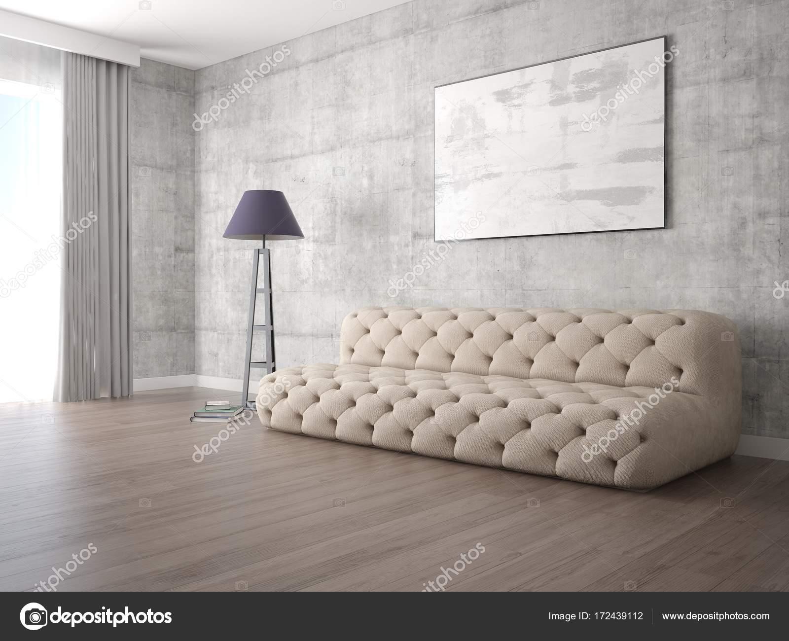 Mock Up Ein Modernes Wohnzimmer Mit Modischen Beige Sofa U2014 Stockfoto