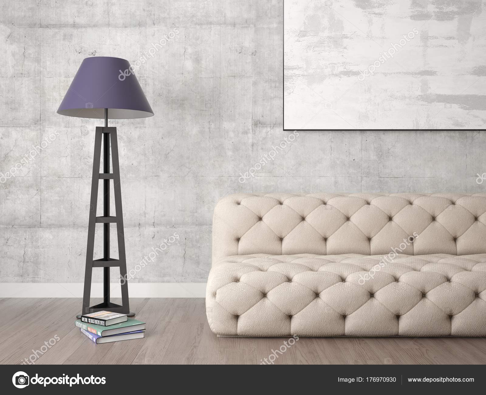 Mock Empty Frame Living Room Comfortable Sofa Hipster Background ...