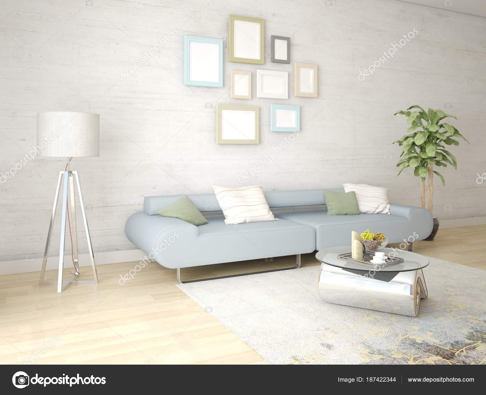 Mock Bright Living Room Exclusive Floor Lamp Comfortable Sofa ...