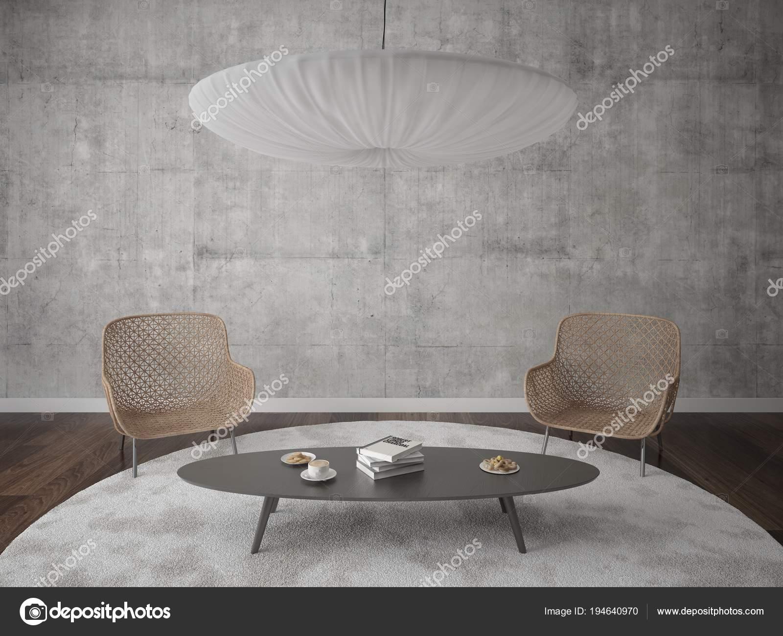 Salon Moderne Avec Fauteuils élégants Et Fond De Hipsteru2013 Images De Stock  Libres De Droits