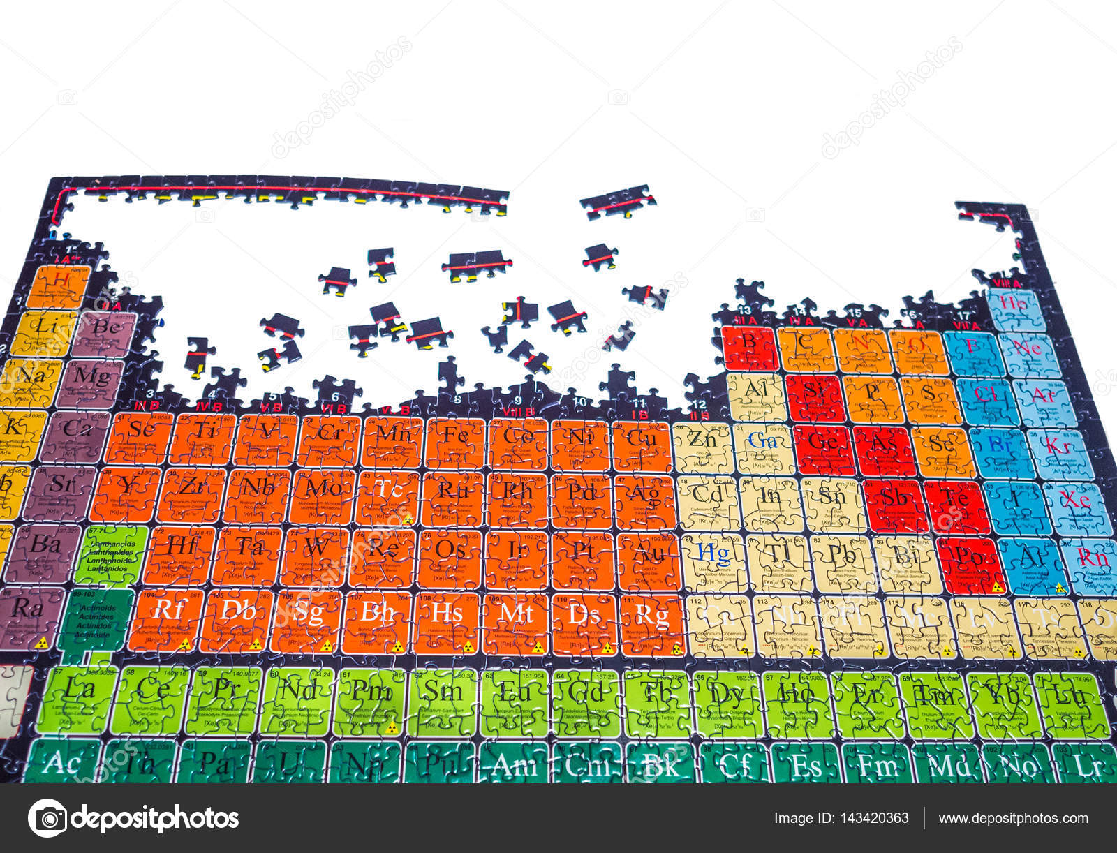Unsolved Puzzle Of The Chemical Periodic Table Stock Photo