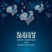 Nový rok 2017 pozadí