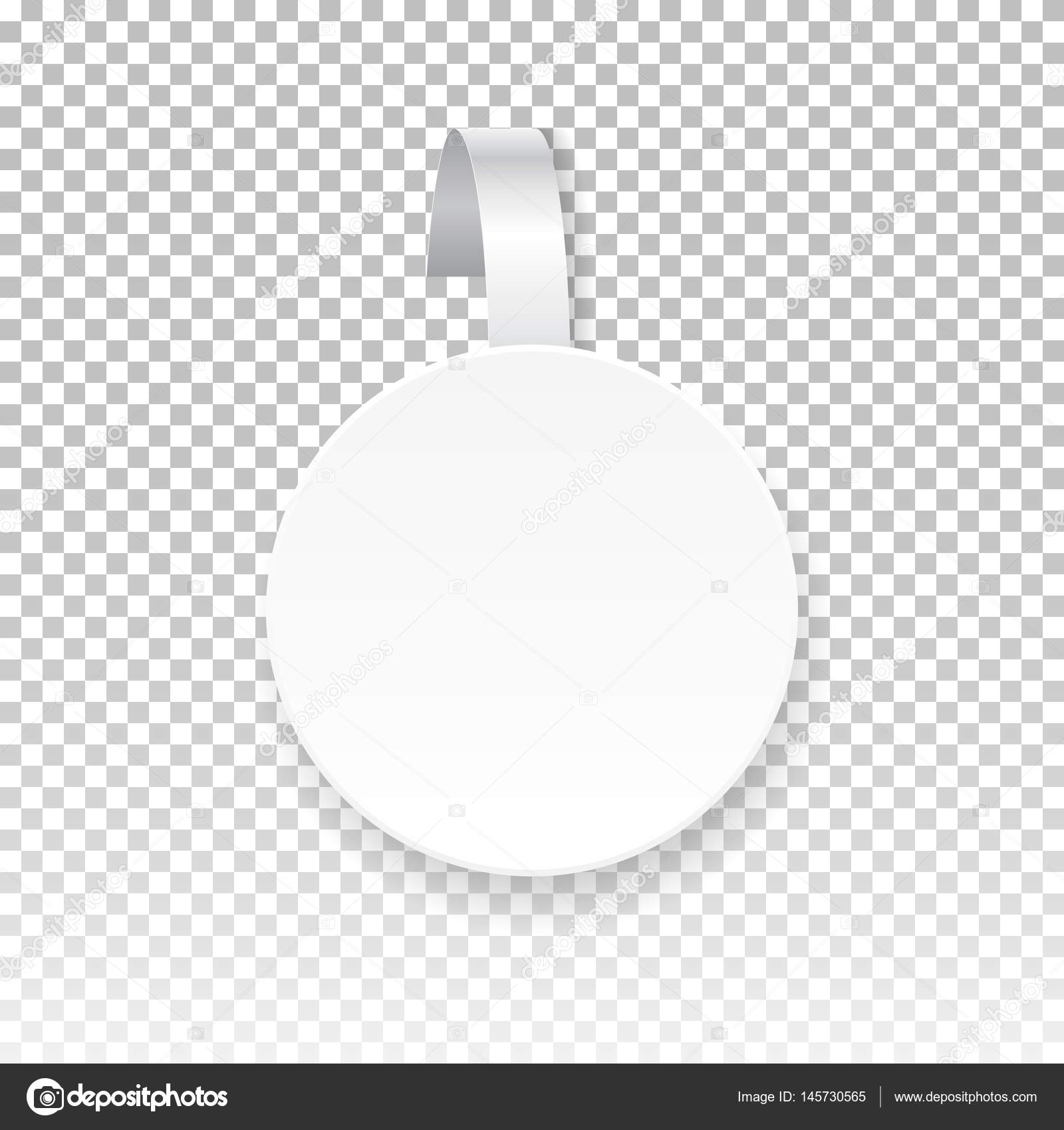 Vector white round paper wobbler, isolated on background. Template ...
