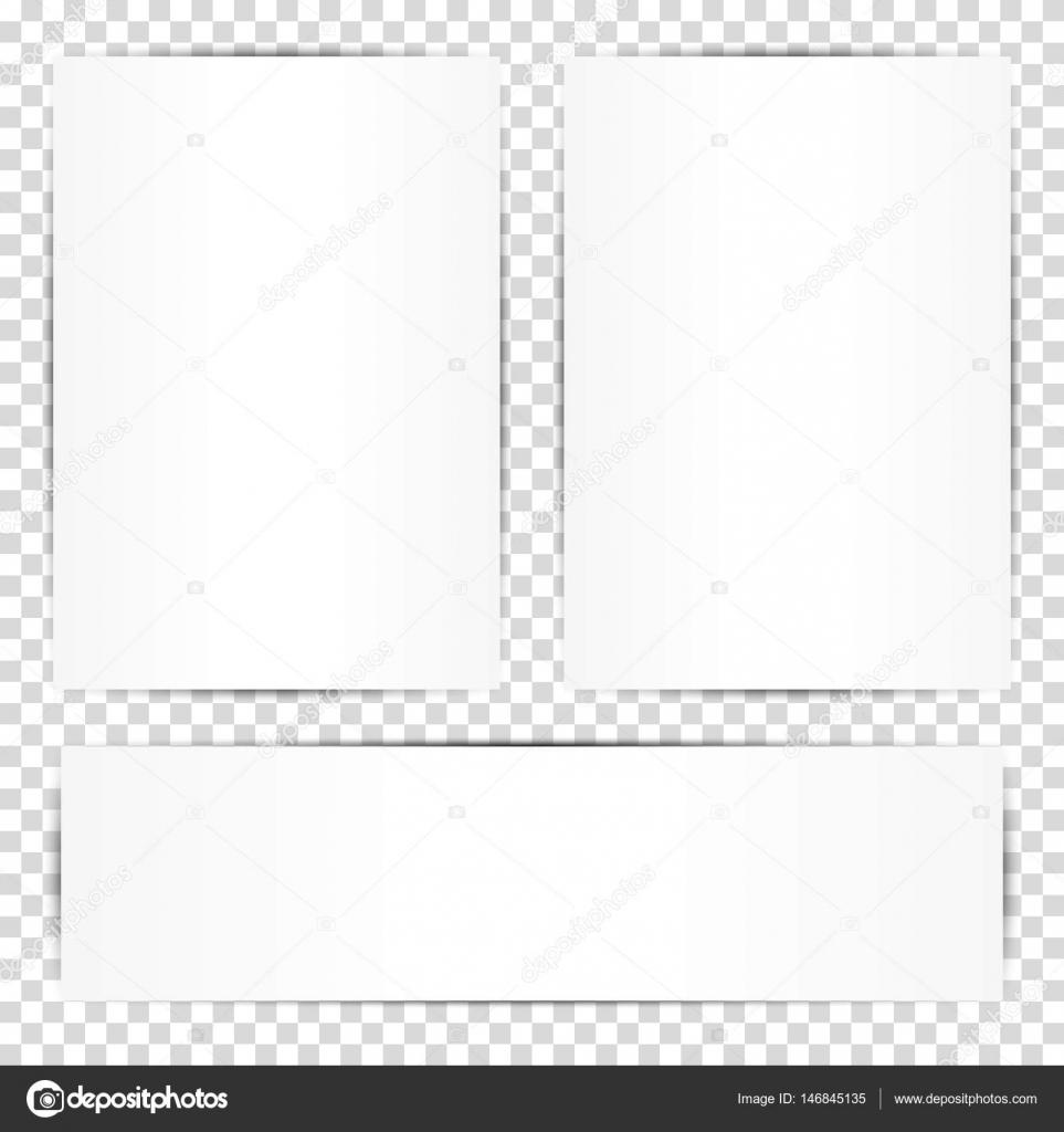 Blank white paper sheets. Vector illustration of design for business ...