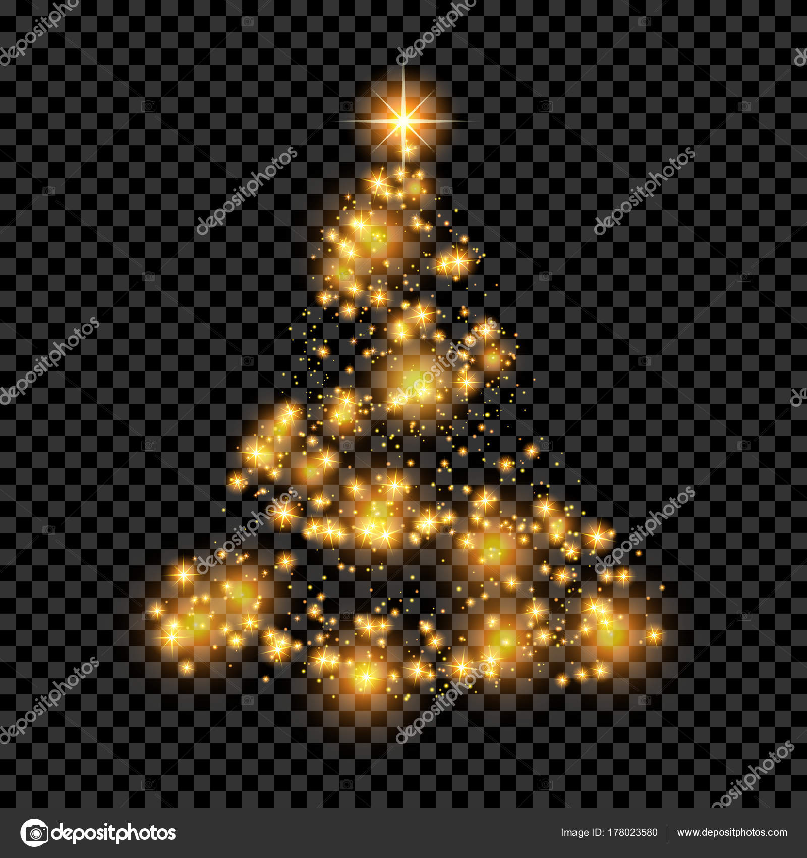 Christmas Tree Transparent Background Stock Vector