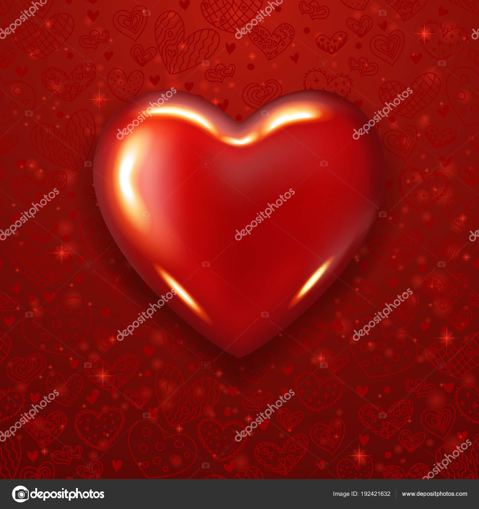 Realistic Heart Valentinea Day Heart Stock Vector Alionamanakova