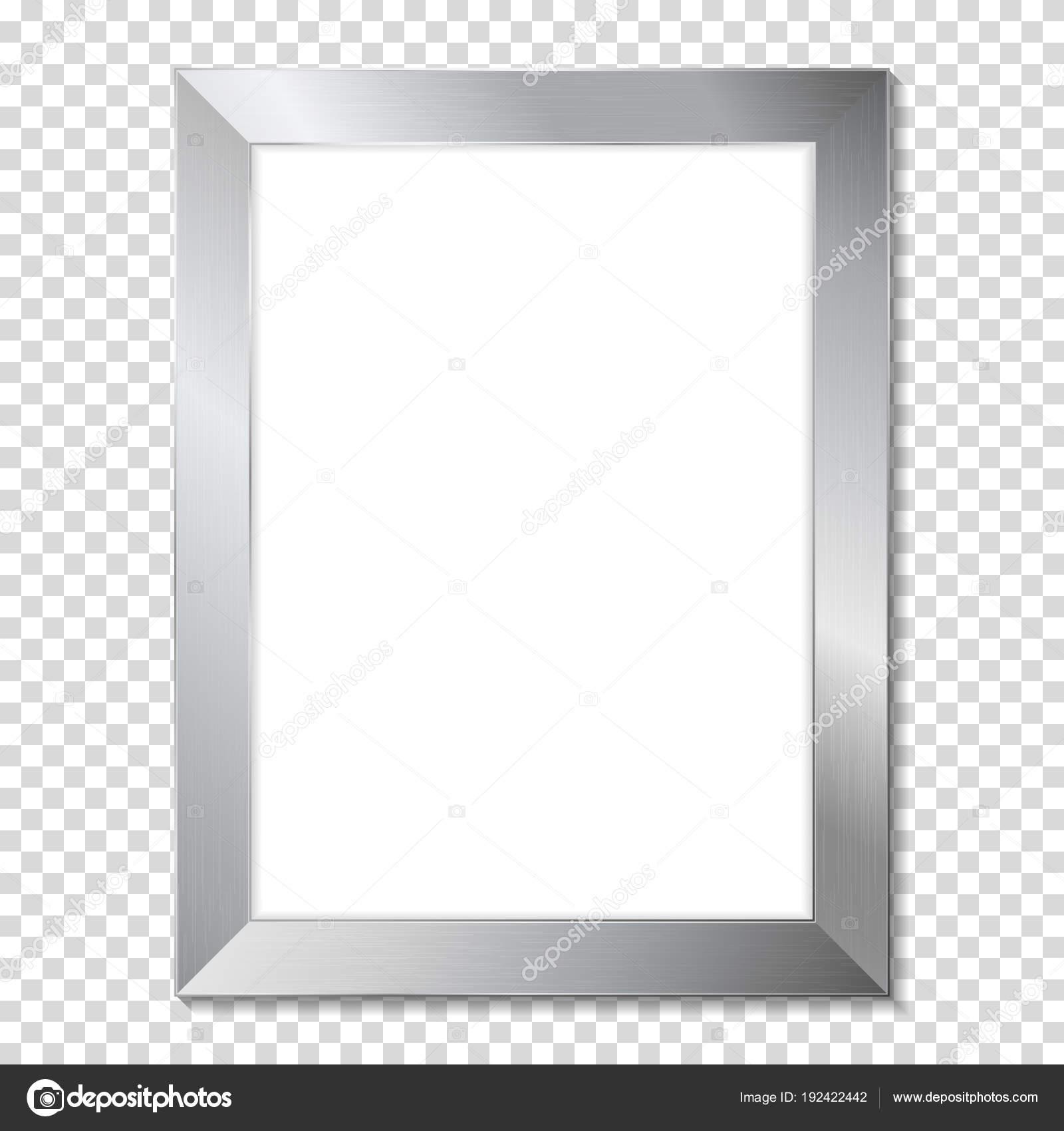 Marco Metal Aluminio Realista — Archivo Imágenes Vectoriales ...