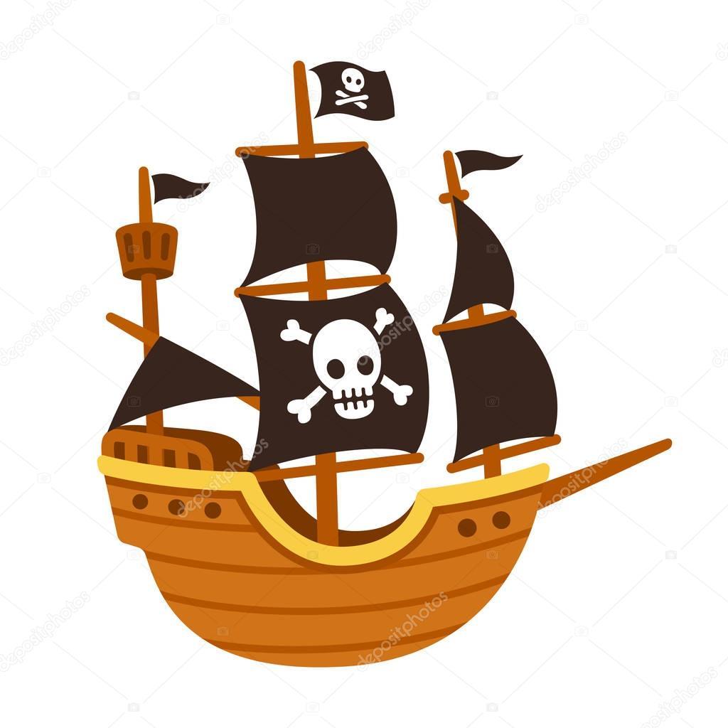 Dibujo Animado Del Barco Pirata