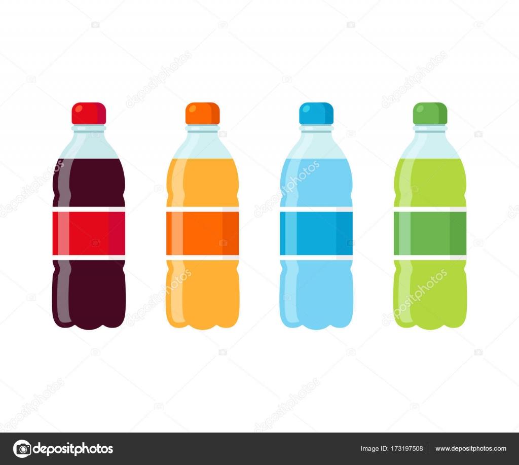 Soda bottles icon set — Stock Vector © Sudowoodo #173197508