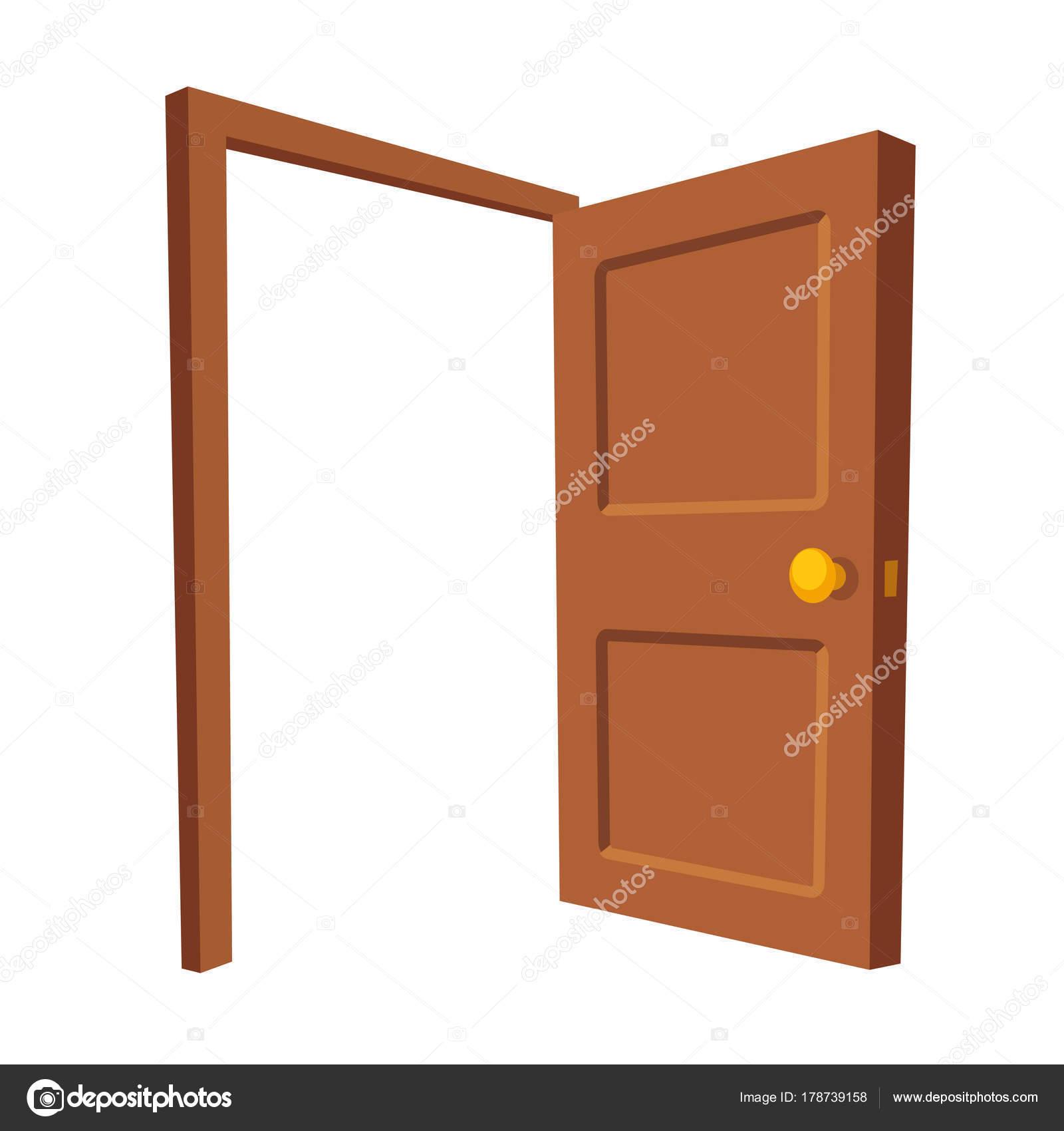 Offenen Tür isoliert Abbildung — Stockvektor © Sudowoodo #178739158