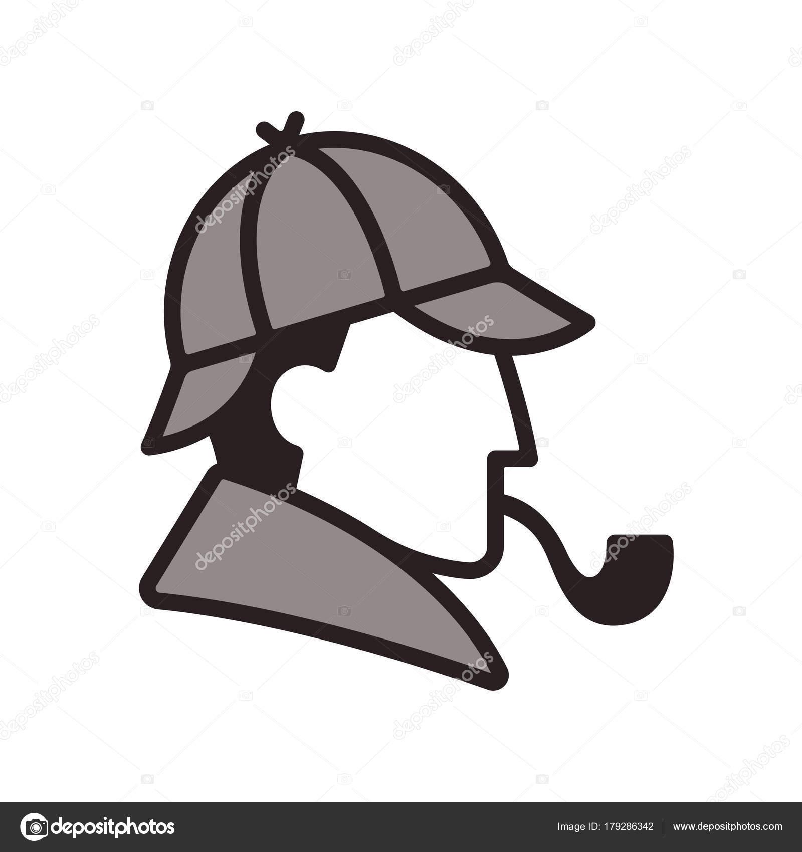 aedd054ea Sherlock Holmes profile logo — Stock Vector © Sudowoodo #179286342