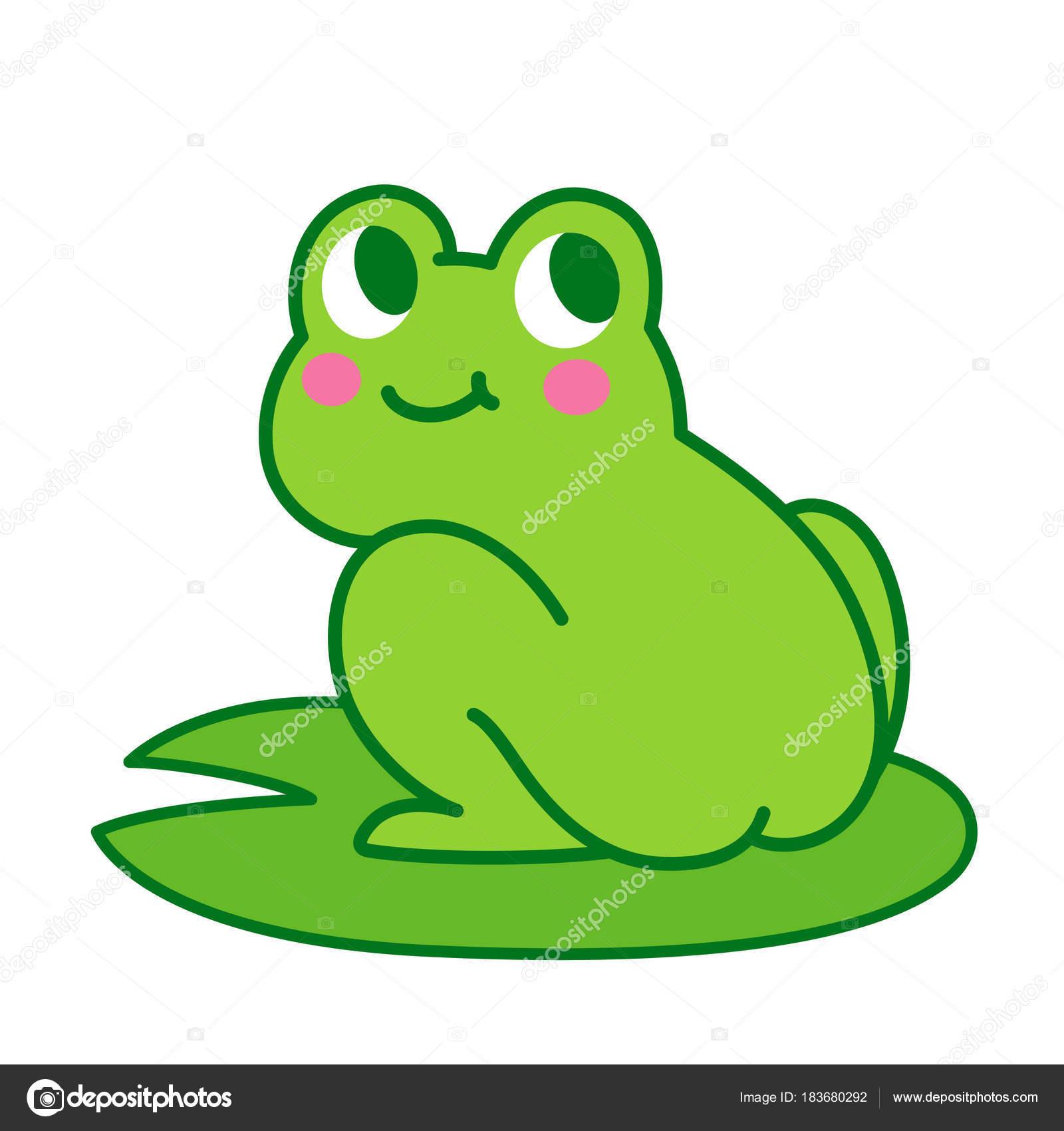 Cute cartoon frog butt Stock Vector Sudowoodo 183680292
