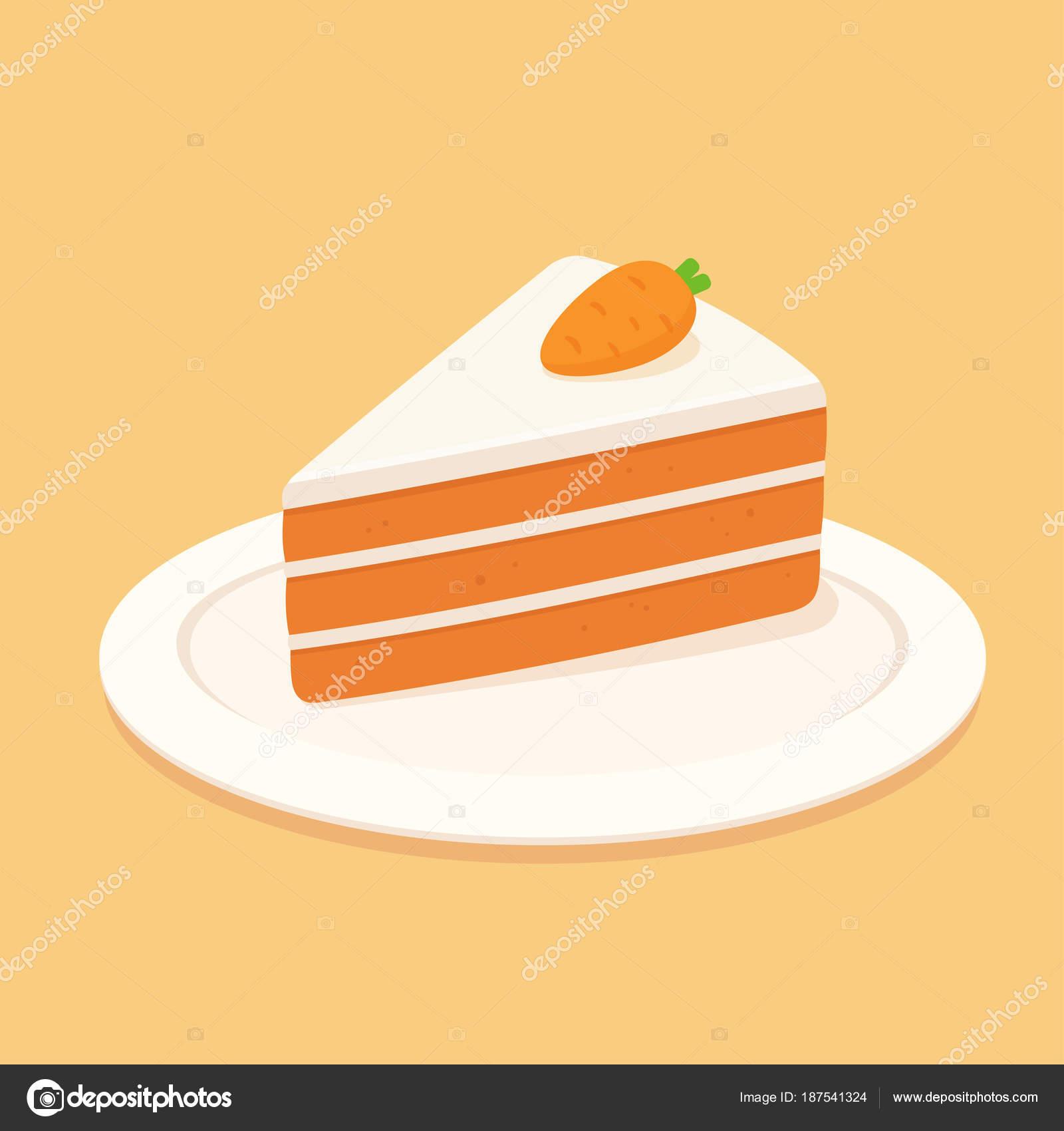Rebanada Pastel Zanahoria Con Queso Crema Glaseado Mazapán ...