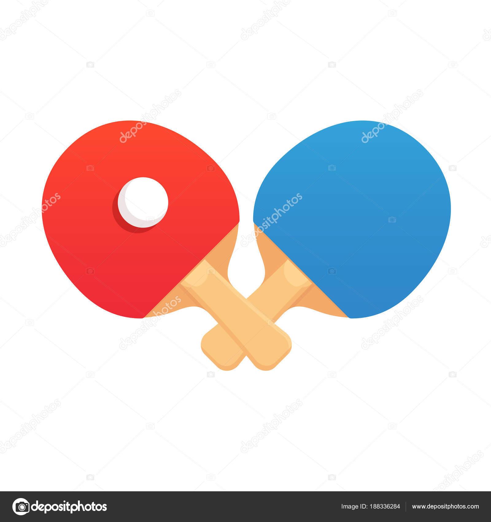 b7a411c82 Emblema Desafio Tênis Mesa Com Duas Raquetes Ping Pong Cruzadas — Vetores  de Stock