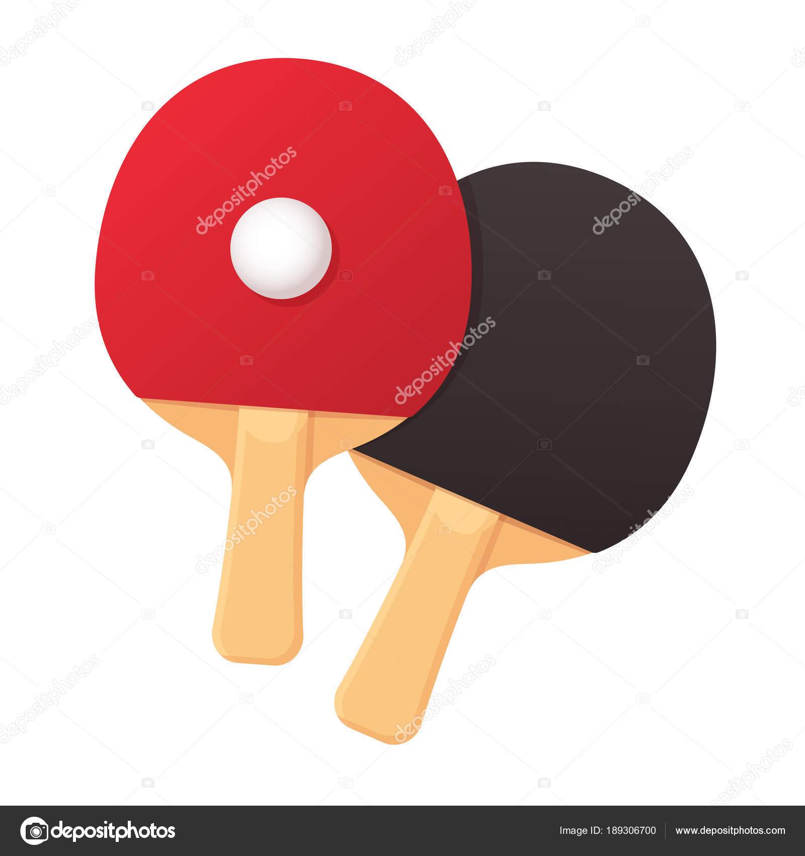 dc5ee79e1 Duas raquetes de pong ping realista com bola. Ilustração em vetor  equipamentos de tênis de mesa — Vetor de ...