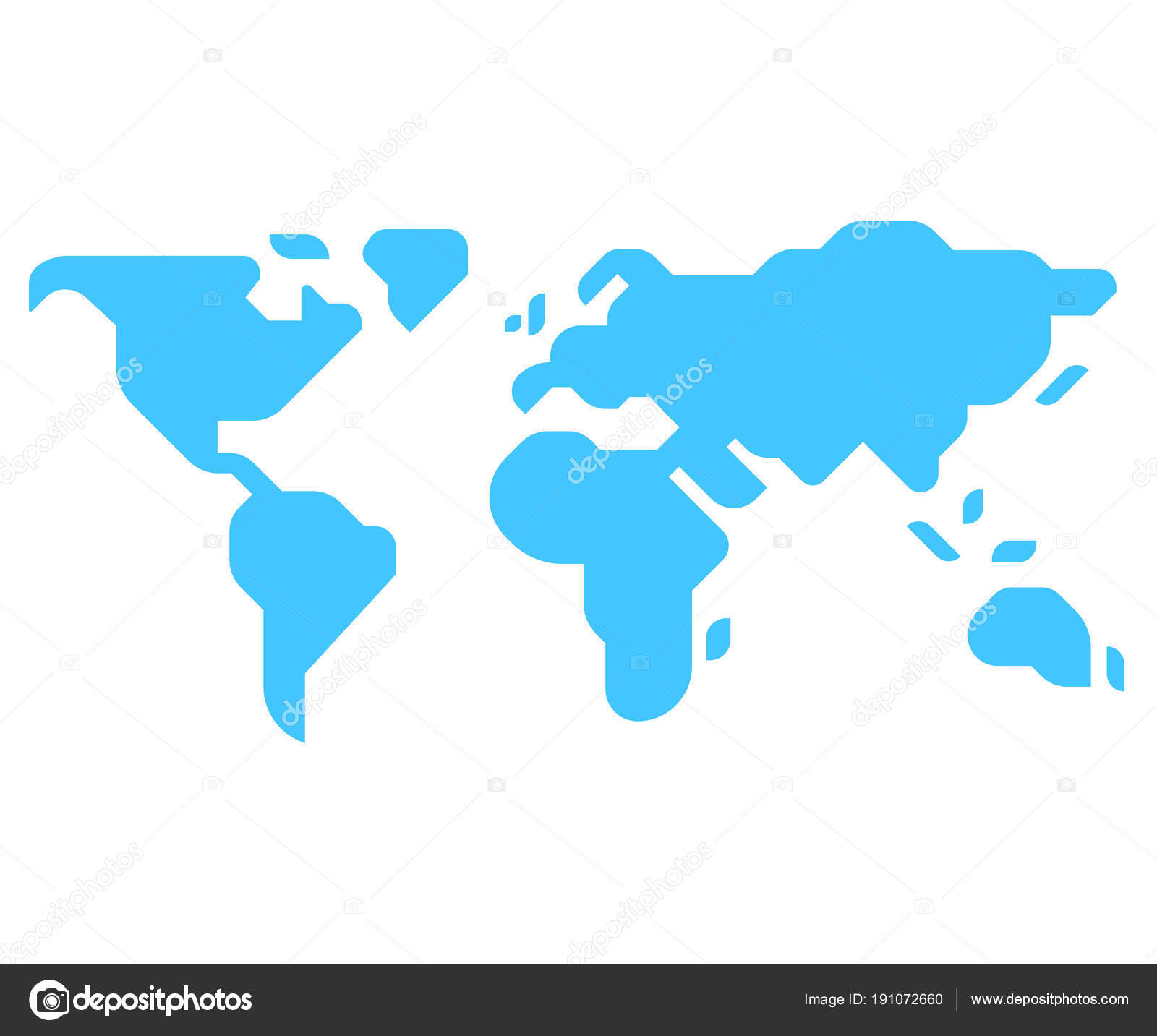Minimal style world map stock vector sudowoodo 191072660 simple stylized world map silhouette in modern minimal style isolated vector illustration vector by sudowoodo gumiabroncs Image collections