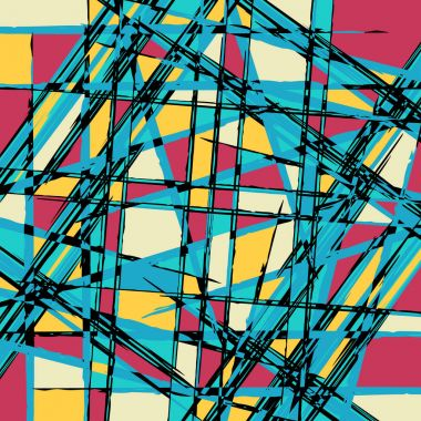 Abstract geometric objects graffiti grunge effect