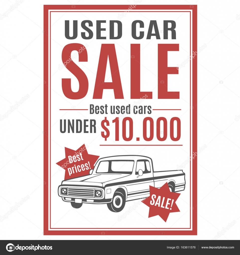 Plantilla de vectores para el anuncio de venta de autos usados con ...