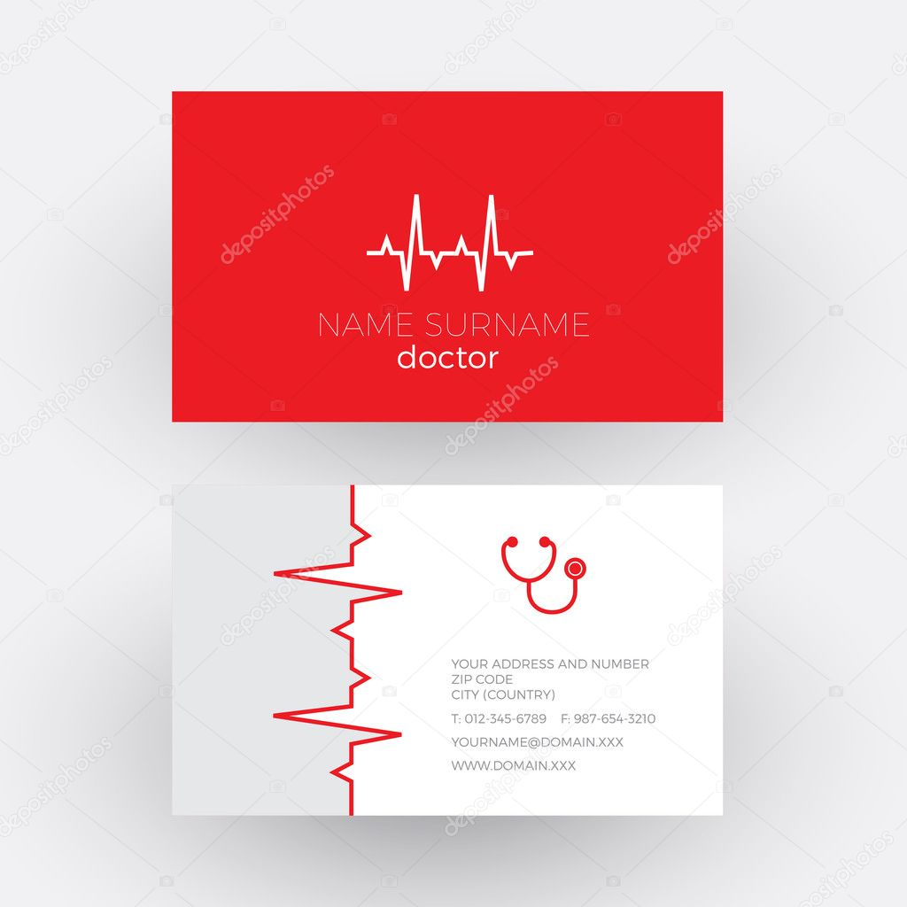 Vektor Abstrakte Elektrokardiogramm Streifen Kardiologe
