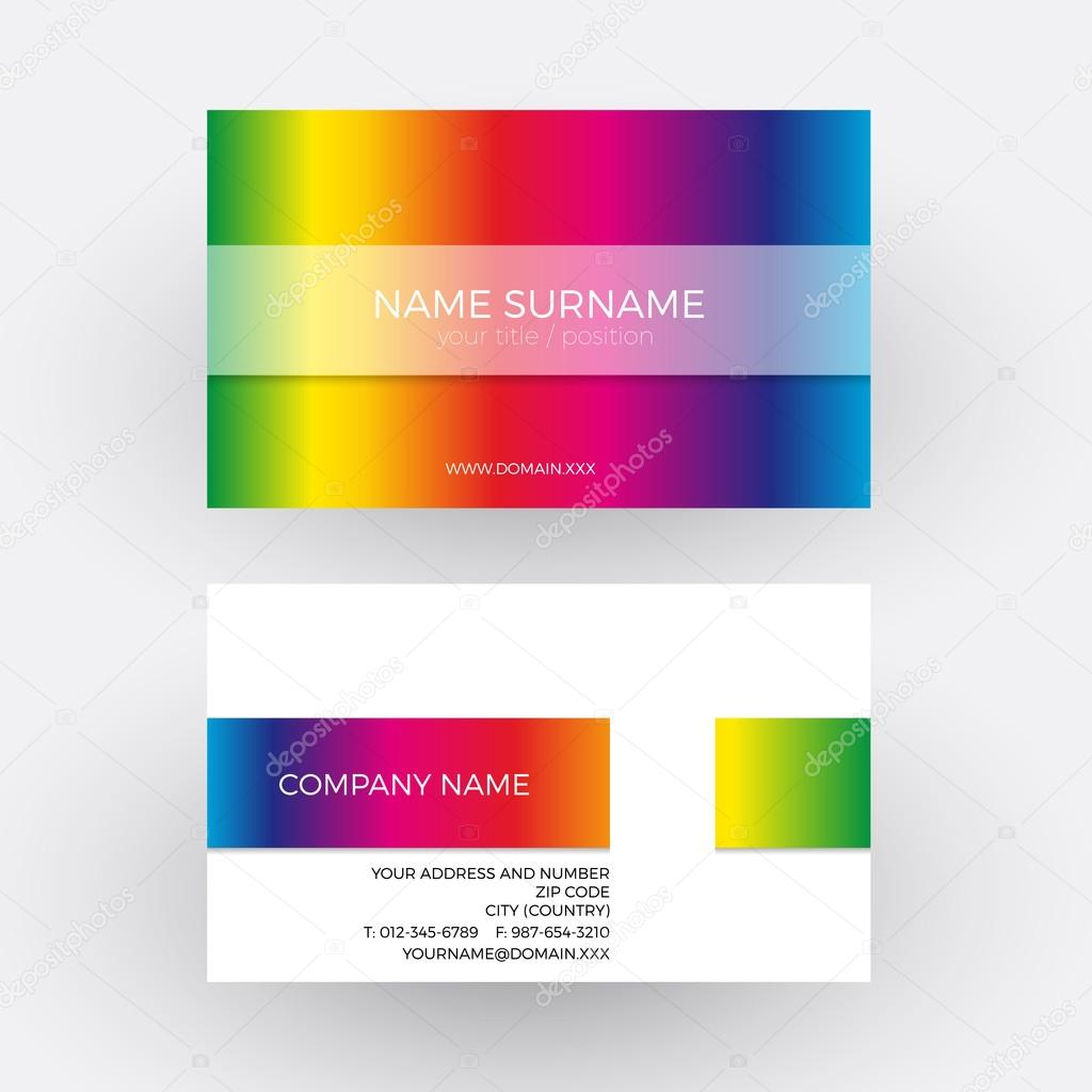 Vector abstract rainbow design business card stock vector vector abstract rainbow design business card stock vector reheart Images