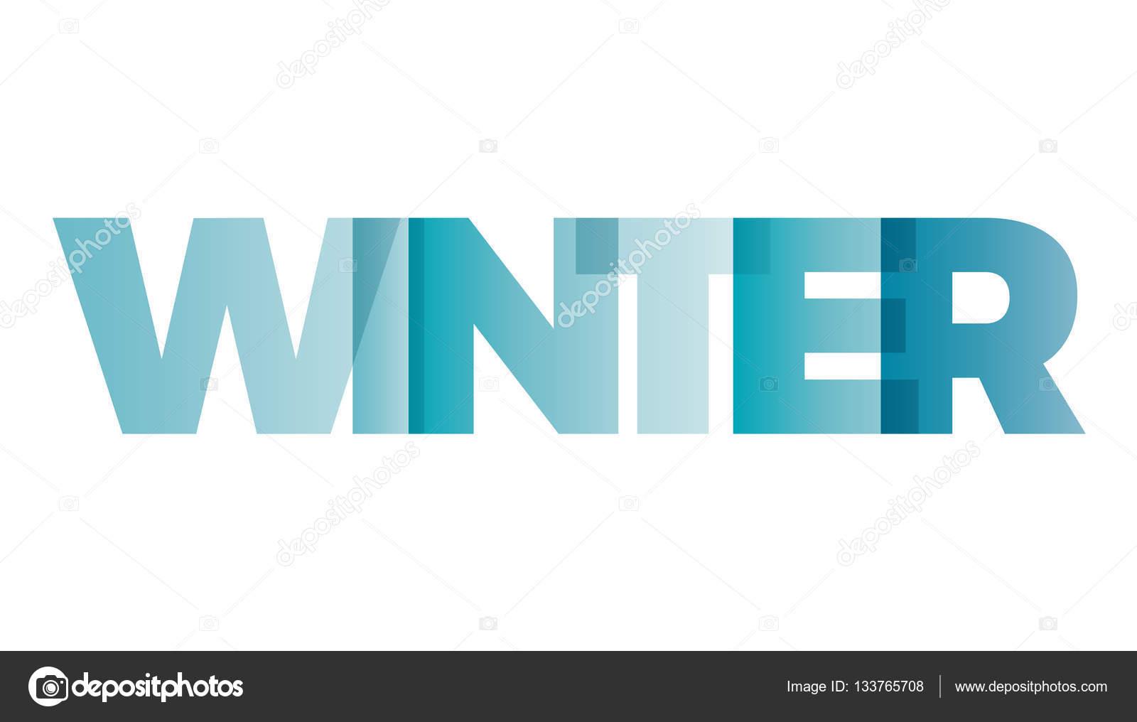 Logotipo de word para colorear   La palabra invierno. Bandera de ...