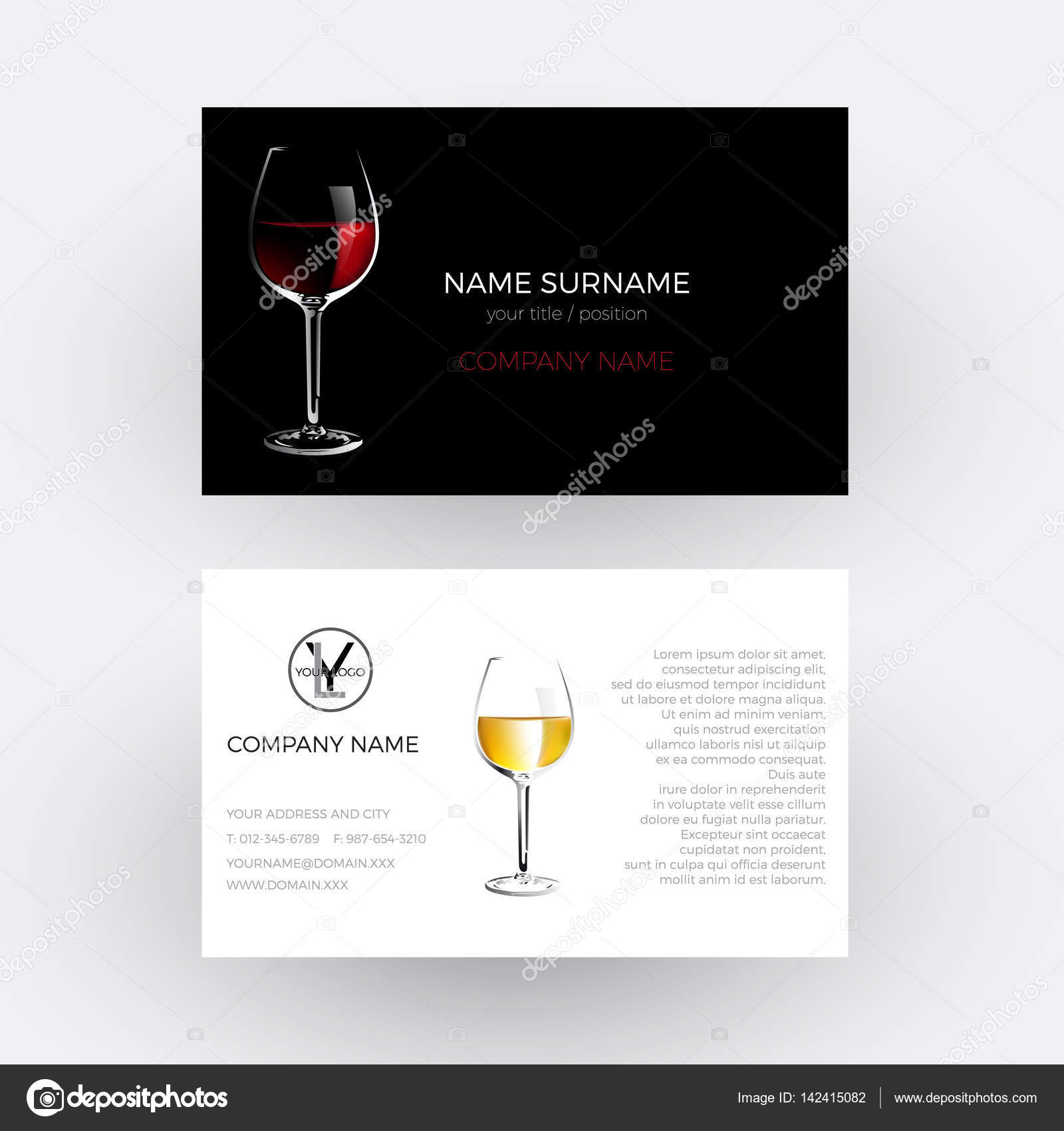 Vector abstract glass of red wine, concept of vinery and wine st ...