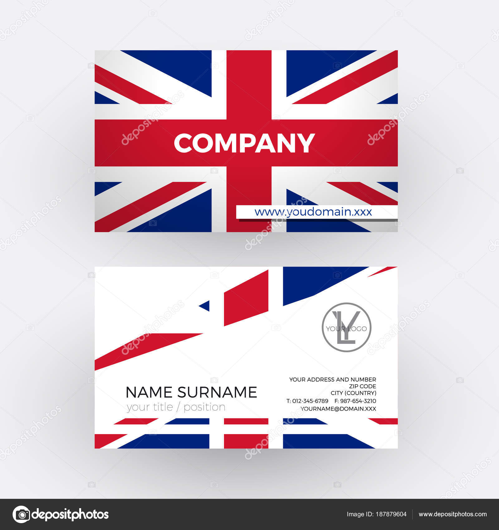 Vector abstract british flag professional business card for uk vector abstract british flag professional business card for uk stock vector reheart Image collections