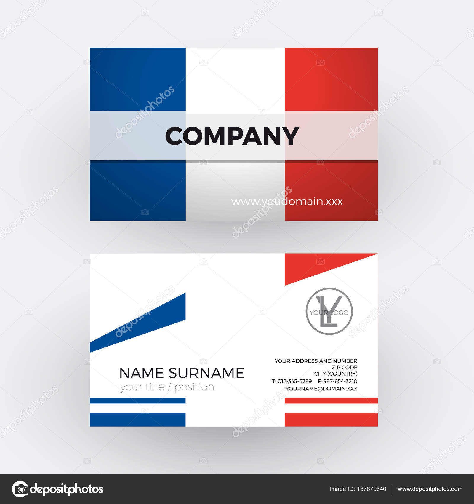 Vector abstract french flag professional business card for fran vector abstract french flag professional business card for fran stock vector colourmoves